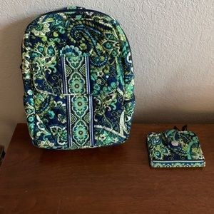 Vera Bradley Backpack and matching Wallet